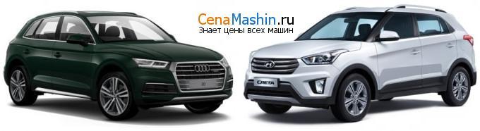 Сравнение Audi Q5 и Хендай Крета