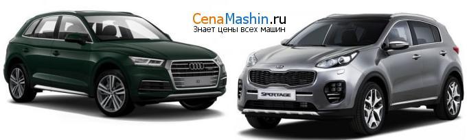 Сравнение Audi Q5 и Киа Спортейдж