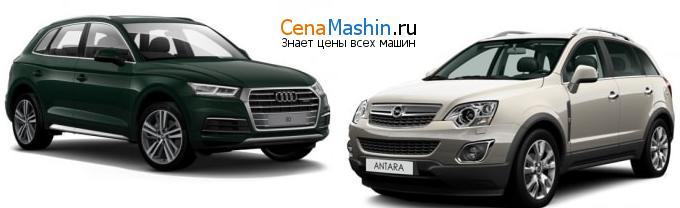 Сравнение Audi Q5 и Опель Антара