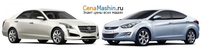 Сравнение Cadillac CTS и Хендай Аванте