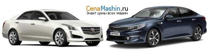 Сравнение Cadillac CTS и Киа Оптима