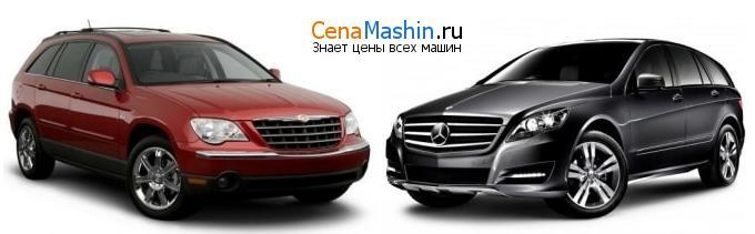 Сравнение Крайслер Пацифика и Mercedes-Benz R-класс