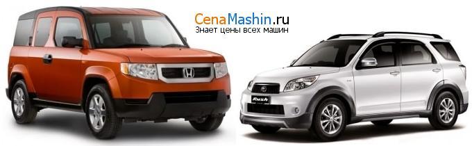 Сравнение Хонда Элемент и Тойота Раш