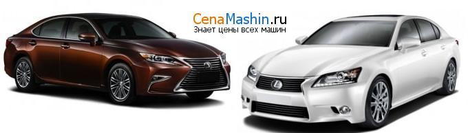 Сравнение Lexus ES и Lexus GS