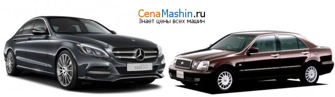Сравнение Mercedes-Benz C-класс и Тойота Прогрес