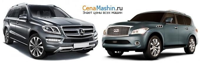 Сравнение Mercedes-Benz GL-класс и Infiniti QX