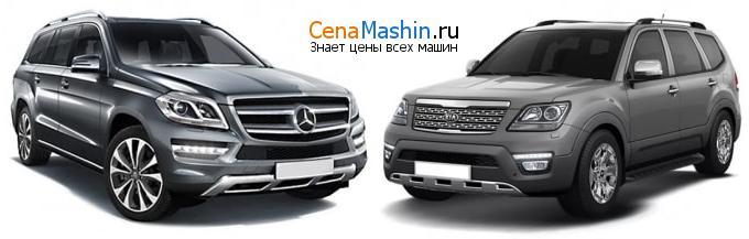 Сравнение Mercedes-Benz GL-класс и Киа Мохав