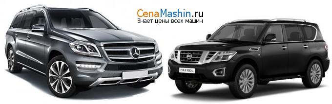 Сравнение Mercedes-Benz GL-класс и Ниссан Патрол