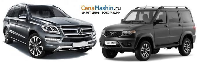 Сравнение Mercedes-Benz GL-класс и УАЗ Патриот
