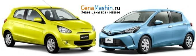 Сравнение Мицубиси Мираж и Тойота Витц