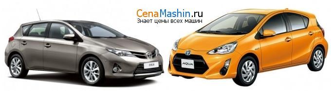 Сравнение Тойота Аурис и Тойота Аква