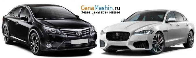 Сравнение Тойота Авенсис и Jaguar XF