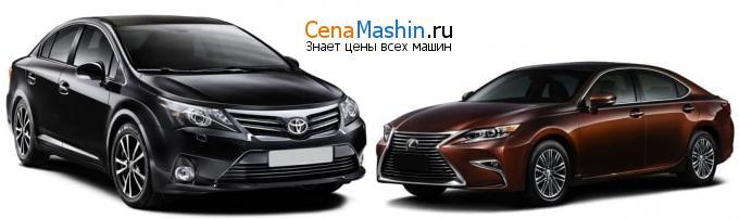 Сравнение Тойота Авенсис и Lexus ES