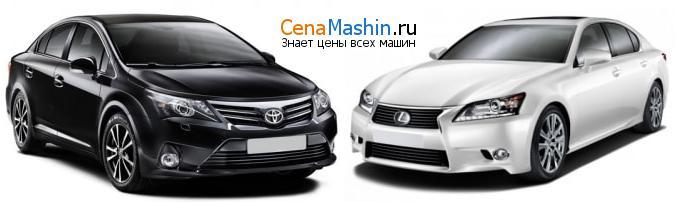 Сравнение Тойота Авенсис и Lexus GS