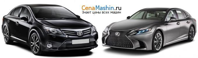 Сравнение Тойота Авенсис и Lexus LS
