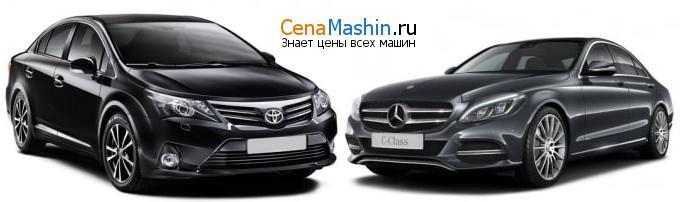 Сравнение Тойота Авенсис и Mercedes-Benz C-класс