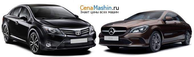 Сравнение Тойота Авенсис и Mercedes-Benz CL-класс