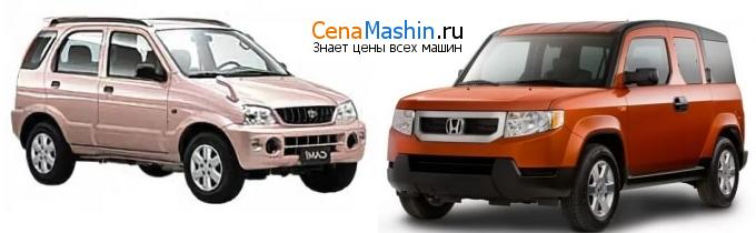 Сравнение Тойота Ками и Хонда Элемент