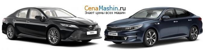 Сравнение Тойота Камри и Киа Оптима