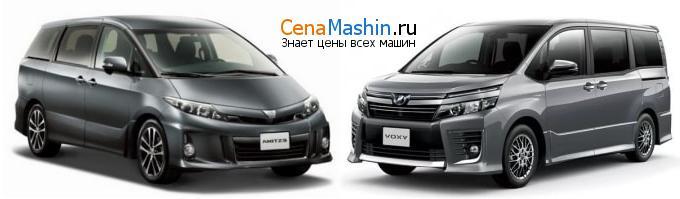Сравнение Тойота Эстима и Тойота Вокси