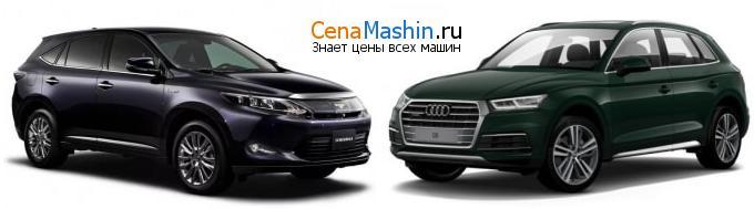 Сравнение Тойота Харриер и Audi Q5