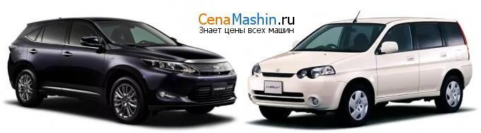 Сравнение Тойота Харриер и Хонда Хр-в
