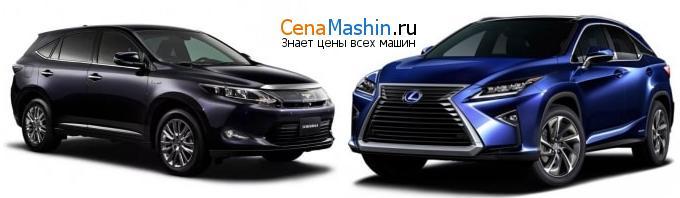 Сравнение Тойота Харриер и Lexus RX