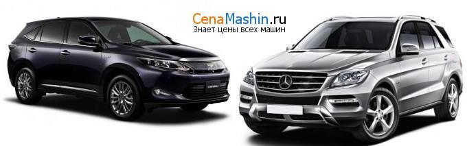 Сравнение Тойота Харриер и Mercedes-Benz M-класс