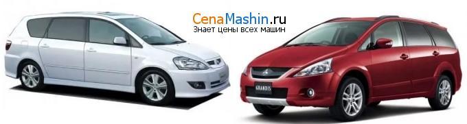 Сравнение Тойота Ипсум и Мицубиси Грандис