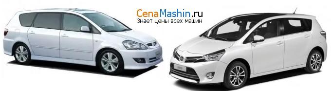 Сравнение Тойота Ипсум и Тойота Версо