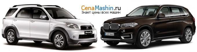 Сравнение Тойота Раш и БМВ икс5