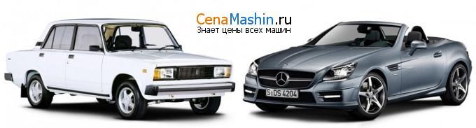 Сравнение ВАЗ (Лада) 2105 и Mercedes-Benz SLK-класс