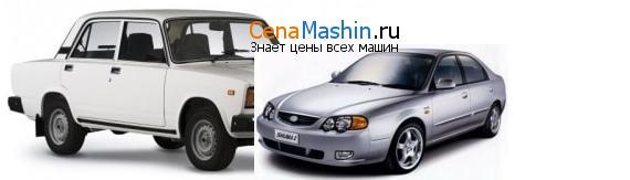 Сравнение ВАЗ (Лада) 2107 и Киа Шума
