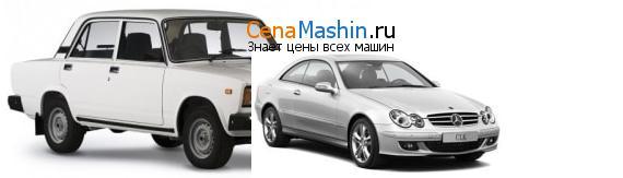 Сравнение ВАЗ (Лада) 2107 и Mercedes-Benz CLK-класс