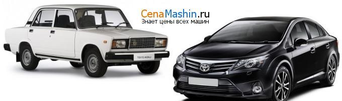 Сравнение ВАЗ (Лада) 2107 и Тойота Авенсис