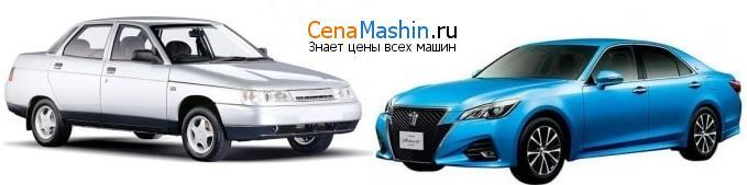 Сравнение ВАЗ (Лада) 2110 и Тойота Краун