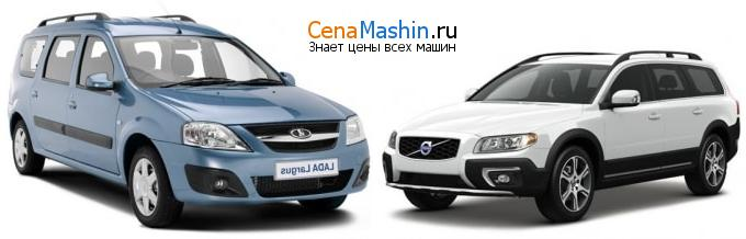 Сравнение Лада Ларгус и Volvo XC70