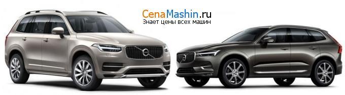 Сравнение Volvo XC90 и Volvo XC60